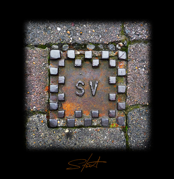 Square Photograph - Checker Sv by Charles Stuart