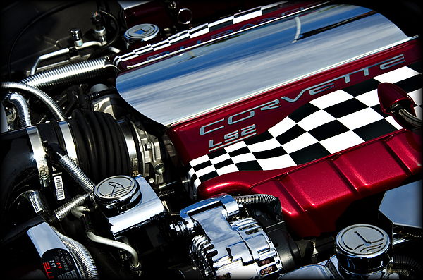 Corvette Photograph - Checkered Flag by Ricky Barnard