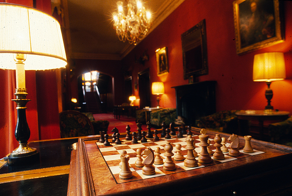 Chess Board Photograph - Checkmate At Dromoland by Carl Purcell