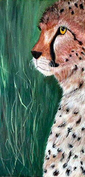 Wildlife Painting - Cheetah by Dia Spriggs