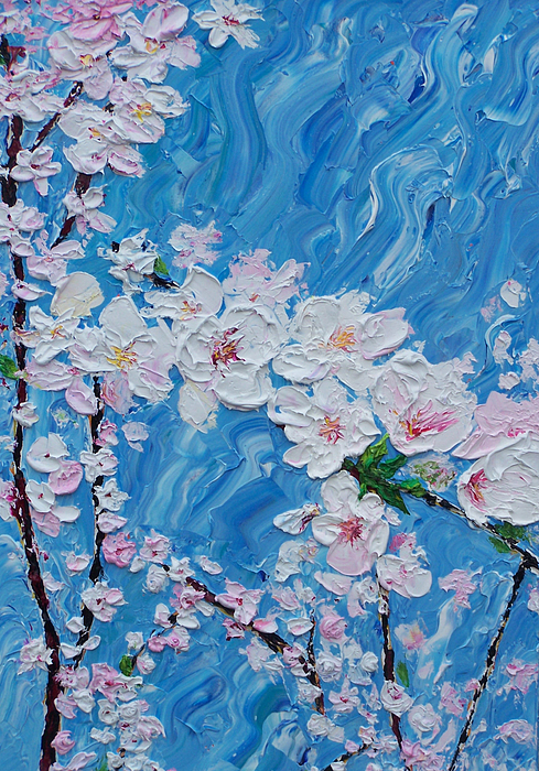Flowers Painting - Cherry Blossoms 1 by Timothy Clayton
