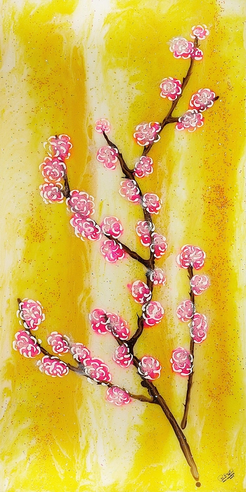 Cherry Blossoms Painting - Cherry Blossoms by Paul Tokarski