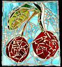 Cherry Glass Art - Cherry Sky by Diane Morizio