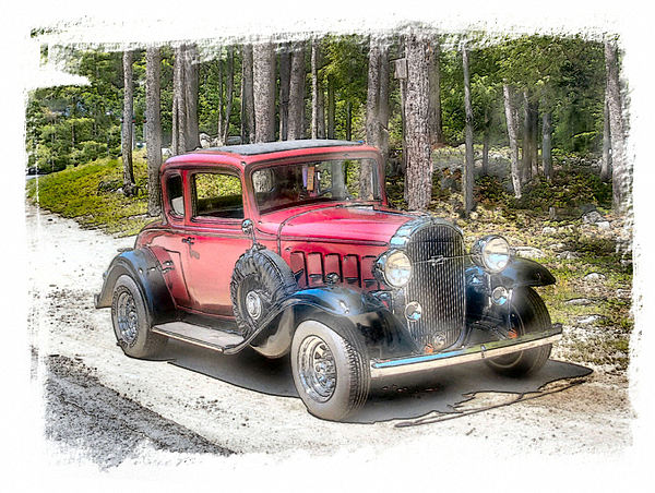 Vehicle Photograph - Cherry Wine by Rose Guay