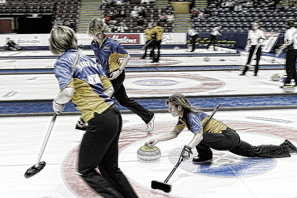 Curling Photograph - Cheryl Bernard by Lawrence Christopher