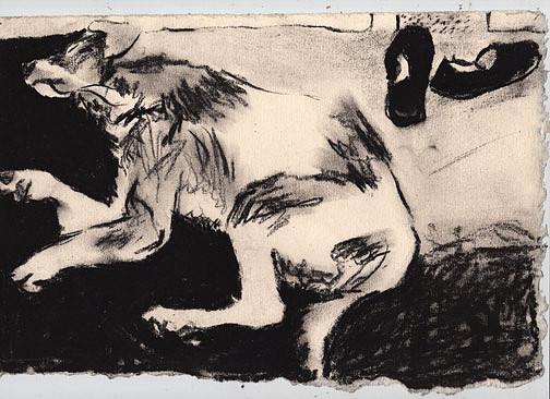 Dog Drawing - Chesmer by Brad Wilson