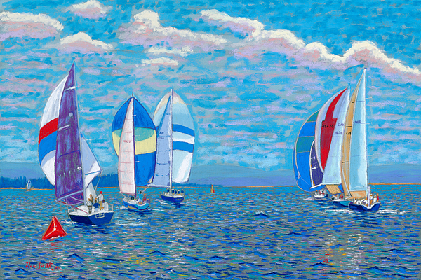 Pastels Pastel - Chester Race Week 2009 by Rae  Smith PSC