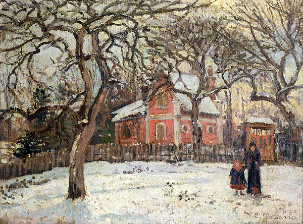 Chestnut Painting - Chestnut Trees At Louveciennes by Camille Pissarro