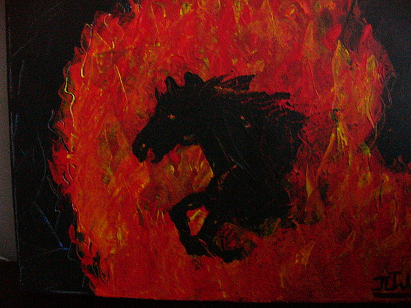 Horse Painting - Cheval De Feu by Jean-Christophe Trahan