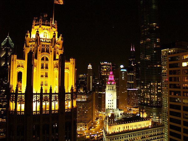 Chicago Photograph - Chicago At Night  by Jacob Stempky