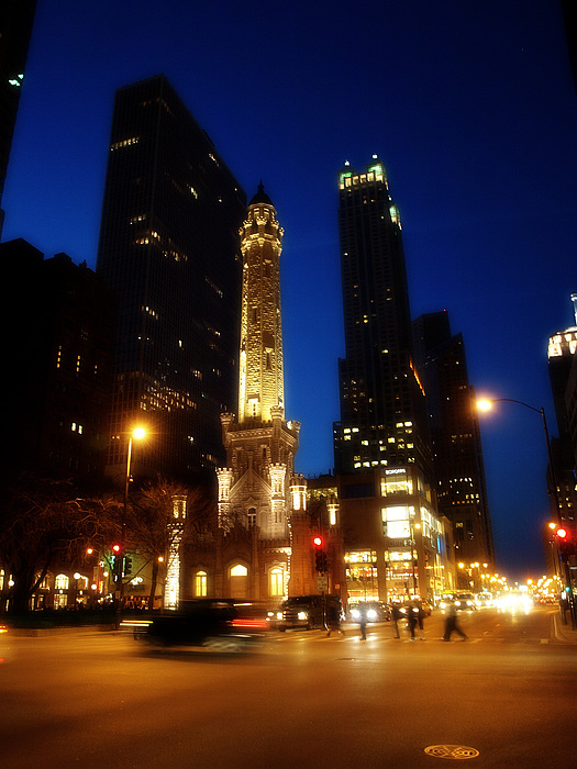 Chicago Photograph - Chicago Nights by Kelly  Burke
