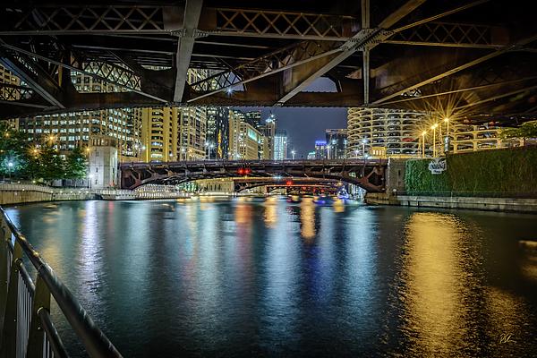 Chicago Photograph - Chicago River Hd by Pat Scanlon