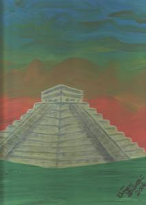 Chichen Itza Pyramid Painting by Ginger Strivelli