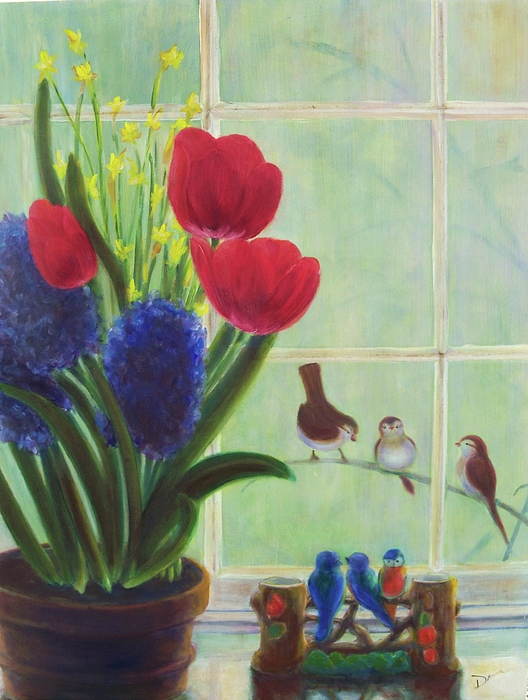 Flowers Painting - Chick Flick by Dana Redfern