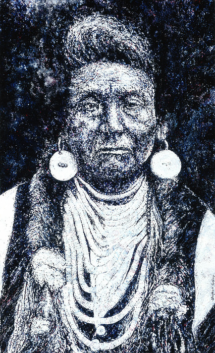 Native American Painting - Chief Joseph by Stephen  Golay