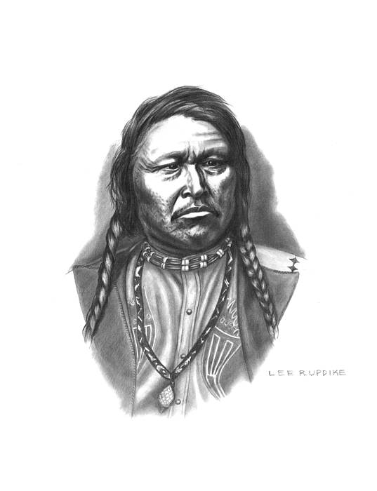 Indian Reservations Drawing - Chief Ouray by Lee Updike