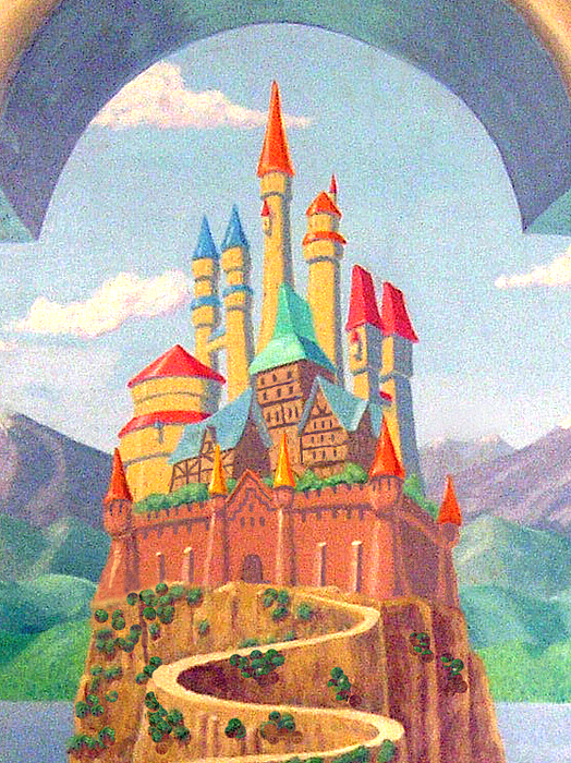 Childrens Castle Mural Detail Los Angeles Painting by Tim Cornelius