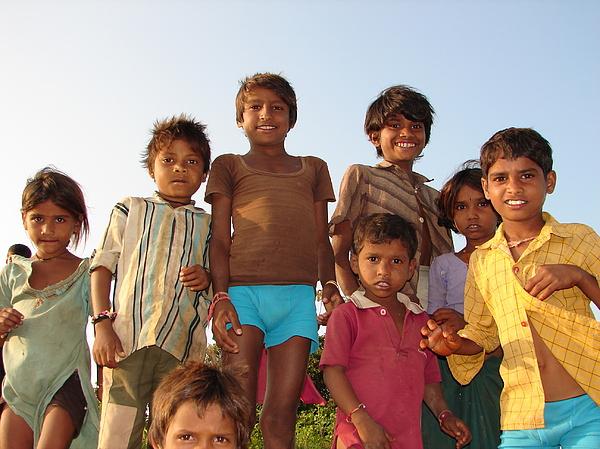 Childrens In Their Free Time At Village Enjoying Photograph by Sandeep Khanwalkar