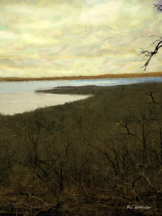 Landscape Painting - Chill Spring by RC deWinter