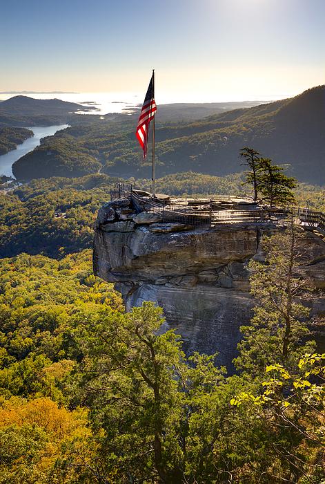 Chimney Rock State Park Photograph - Chimney Rock State Park North Carolina by Dustin K Ryan