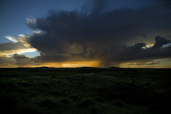 Desert Sky Photograph - Chinati Storm by Clyde Replogle
