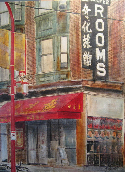 Rooming House Painting - Chinatown 1 by Victoria Heryet