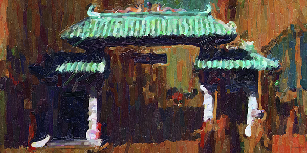 Chinatown Photograph - Chinatown Gate by Wingsdomain Art and Photography