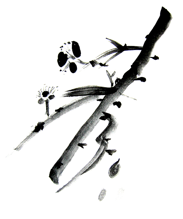 Chinese Brush Painting - Chinese Brush L by Danny Pike