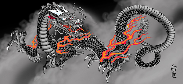 chinese dragon digital art by devaron jeffery