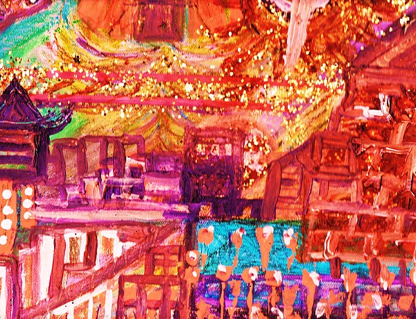 Bright Mixed Media - Chinese If You Please New Year by Anne-Elizabeth Whiteway