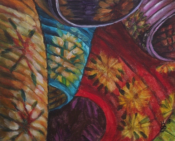 Acrylic Painting - Chinese Lanterns by Kim Selig