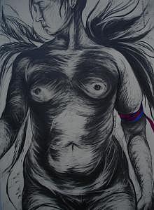 Chowhound Flight Drawing by Hyon Joo Kim