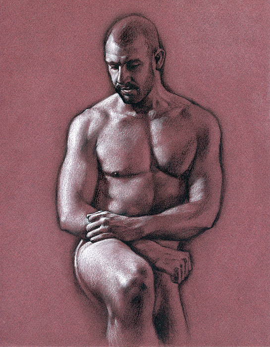 Male Drawing - Chris 2 by Chris Lopez