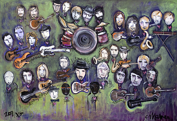 Chris Daniels Painting - Chris Daniels And Friends by Laurie Maves ART