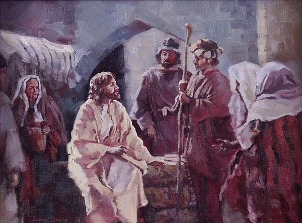 Christ Painting - Christ At The Well by Layne Brady
