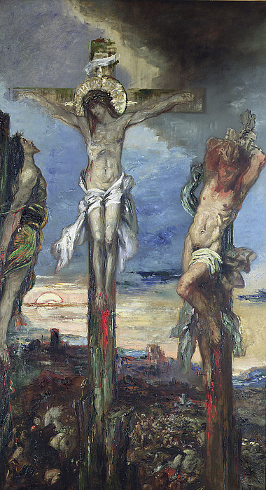Christ Painting - Christ Between The Two Thieves by Gustave Moreau
