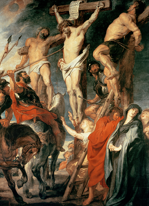 Christ Painting - Christ Between The Two Thieves by Peter Paul Rubens