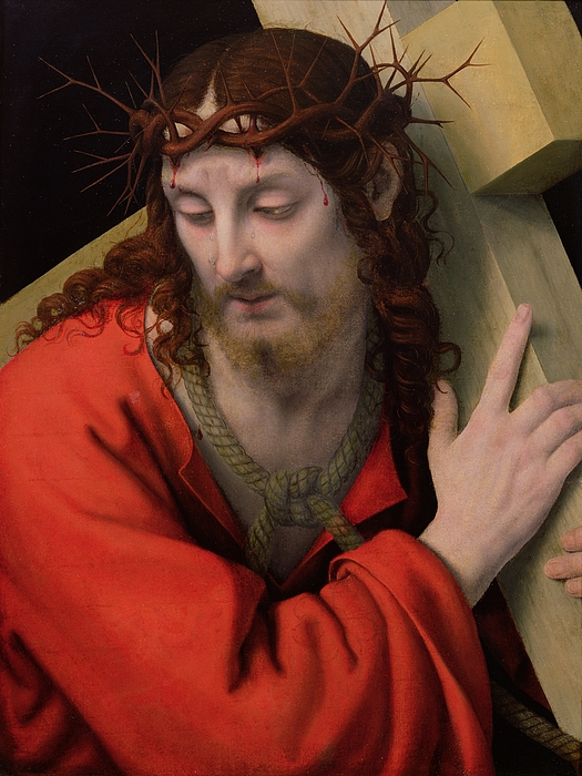 Christ Carrying The Cross Painting - Christ Carrying The Cross by Andrea Solario