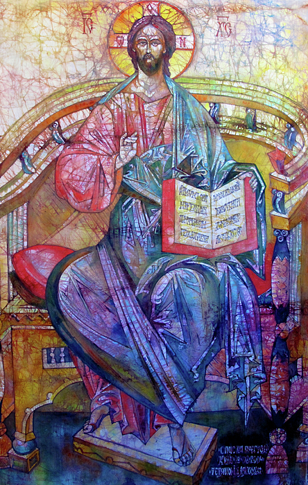 Batik Painting - Christ In Majesty II by Tanya Ilyakhova