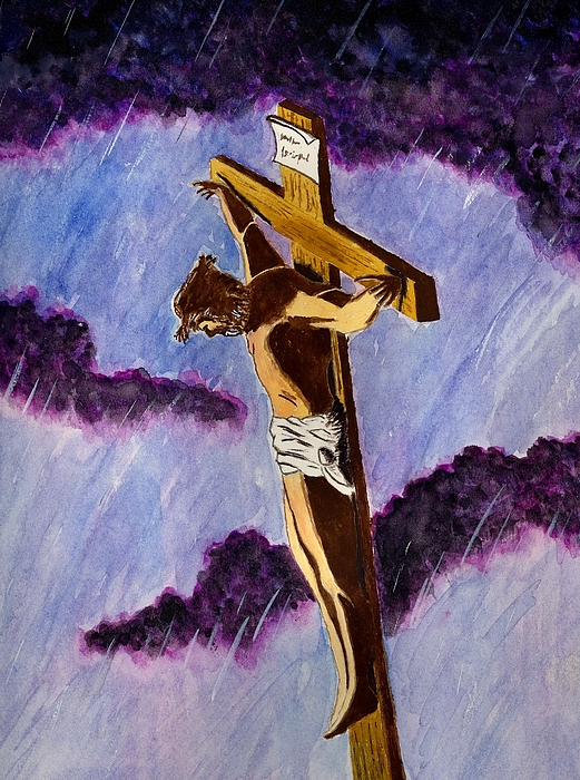 Jesus Painting - Christ On The Cross by Michael Vigliotti