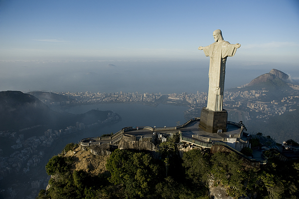 Outdoors Photograph - Christ The Redeemer Statue by Joel Sartore