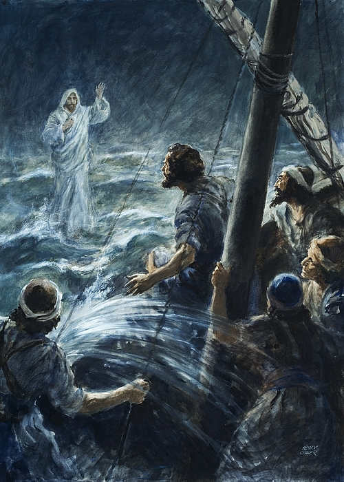Image result for painting of jesus walking on water