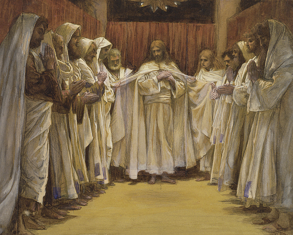 Twelve Apostles Painting - Christ With The Twelve Apostles by Tissot