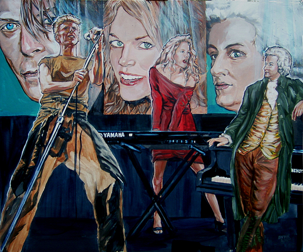Christine Anderson Painting - Christine Anderson Concert Fantasy by Bryan Bustard