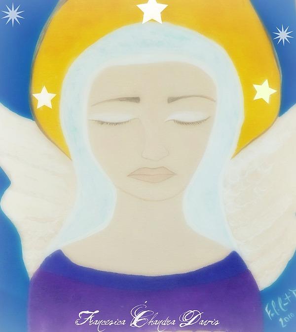Christmas Painting - Christmas Angel by Sacred  Muse