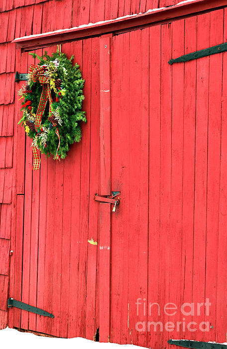 Christmas Photograph - Christmas Barn by John Rizzuto