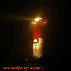 Lighthouse Photograph - Christmas Candle by Megen McAuliffe