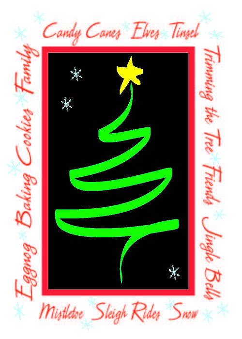 Christmas Greeting Card - Christmas Cheer by Cathy Weaver