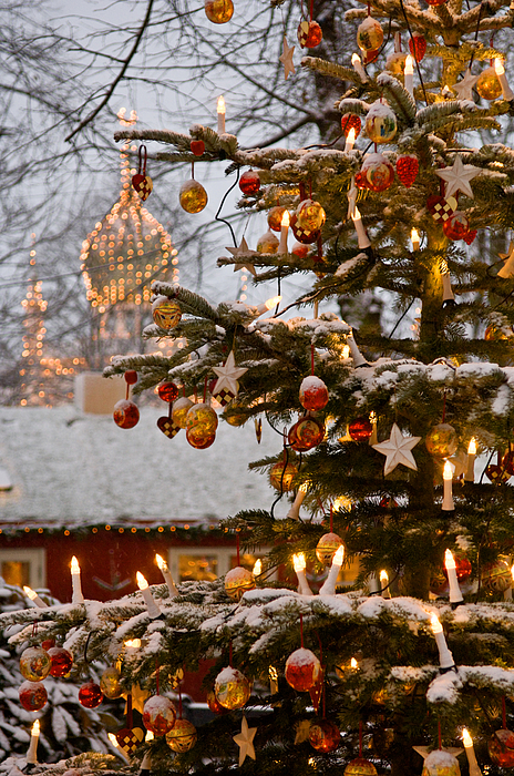 Snow Photograph - Christmastime At Tivoli Gardens by Keenpress