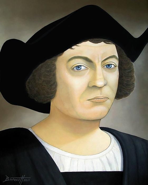 Christopher Columbus Painting - Christopher Columbus by Mark Barnett